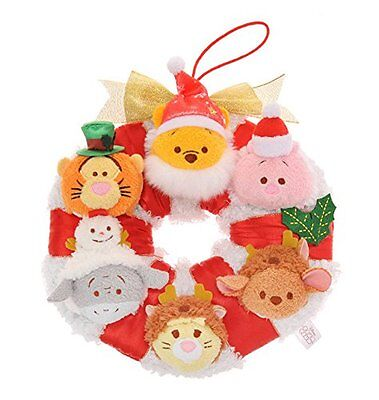 Disney Store Japan TSUM TSUM Christmas Wreath Pooh and Friends