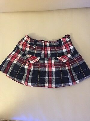 Girls Tommy  Hilfiger 18-24 Months Checked Skirt Vgc