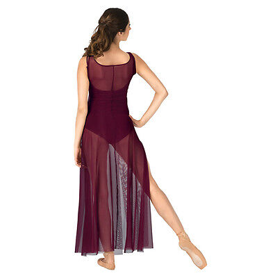 Double Platinum Adult  Small   burgundy  overdress  performance dress N7335