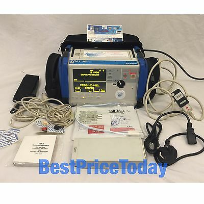 Zoll M Series Biphasic 200 Joules Max Defib Xtreme Pack II ECG NEW PADS BATTERY