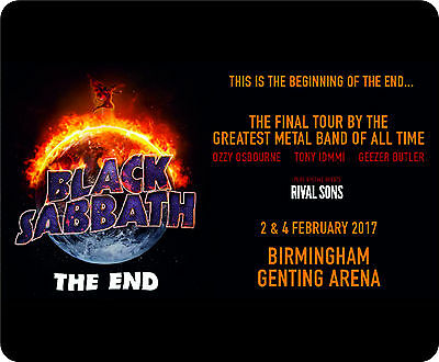 Black Sabbath The End 2017 Tour Birmingham Dates Mousemat