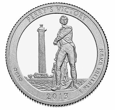 "National Park ATB Quarter UNC. Roll of 40 "" D "" Mint 2013 #17 Perry's Victory OH"