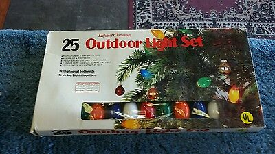 25 outdoor light set lights of Christmas set for parts