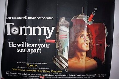 """The Who Tommy Original Quad 1975 Poster In Good Condition 40""""x30"""""""