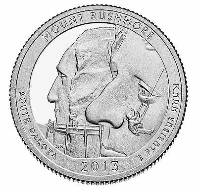 "National Park ATB Quarter UNC. Roll of 40 "" S "" Mint 2013 #20 Mount Rushmore SD"