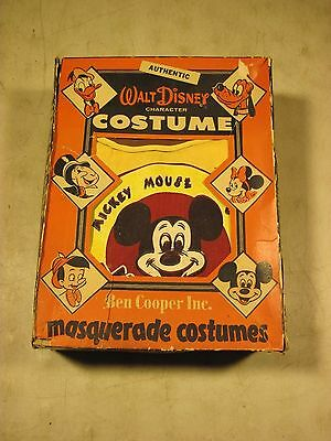 Vintage 1950's Ben Cooper Walt Disney Mickey Mouse Mousketeer Boy Costume W/Box