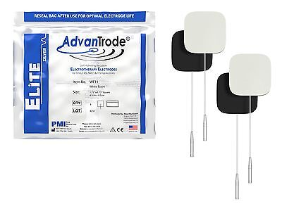40 Piece AdvanTrode TENS EMS Silber Electrodes for devices mit 2mm Connection