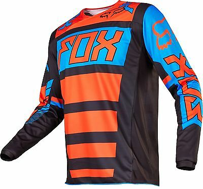 Fox 17 180 Falcon Black Orange MX Jersey Motocross Sport Dirt Bike Off Road Gear