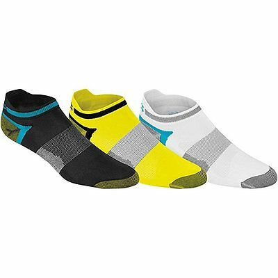 ASICS Quick Lyte Single Tab Running Socks - 3 Pack - Electric Lime Assorted, New