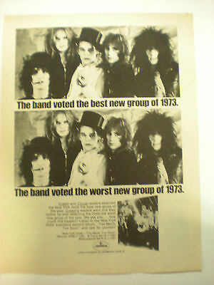 NEW YORK DOLLS ADVERTISEMENT  8x10 Poster FROM THE  70's  A Classic Gem!!