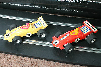 2X Playart Slot Cars Red And Yellow Untested