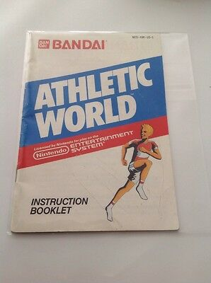 Athletic World Nes Manual Only