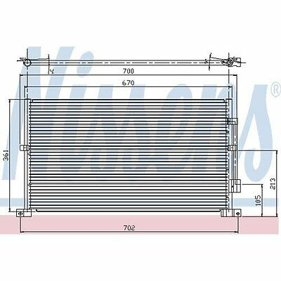 FORD MONDEO 2.0 Air Con Condenser 00 to 01 94585 AC Conditioning Nissens 1116809