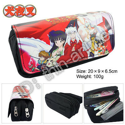 Inuyasha Pencil Case Student's Pen Bag Anime Cosmetic Bags Otaku Hot