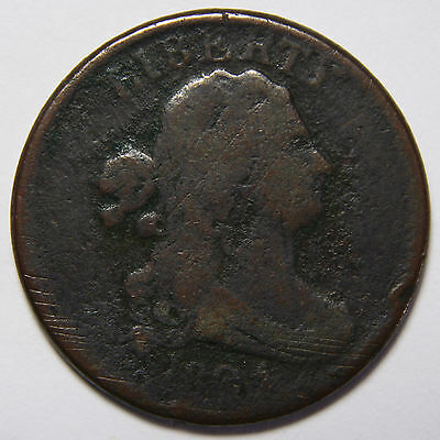 1804 Stemless Draped Bust 1/2 Half Cent Liberty Head Coin Lot # A 2041