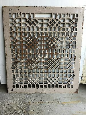 LARGE 23x20 ART CRAFT DECO VICTORIAN CAST IRON FLOOR HEATING GRATE VENT REGISTER