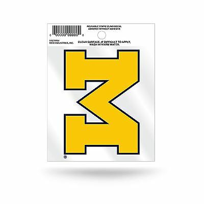 Michigan Wolverines Logo Static Cling Auto Decal Car Sticker Small SS