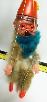 Vintage NOS Celluoid Monkey Puppet Carnival Prize with Fur #1