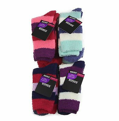 Bonds BED SOCKS 2 PACK Pairs Womens Home Sock Thick Indoor Winter Warm Soft