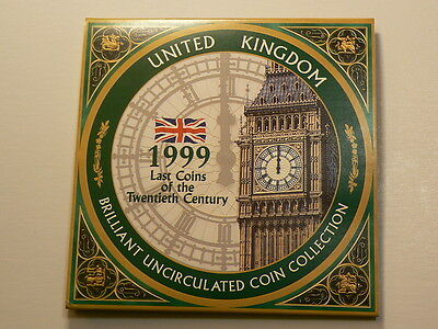 United Kingdom 1999 8 Coin Year Set From Royal Mint, Rugby World Cup #5101