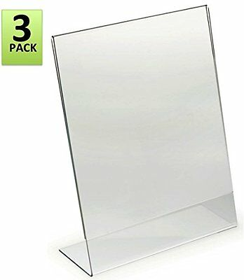85 x 11 inches slant back acrylic sign holder ad frame clear pack