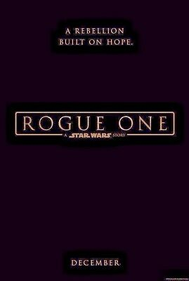 "Star Wars Rogue One Black Banner Double Sided Poster 27"" x 40"" Disney Rewards"