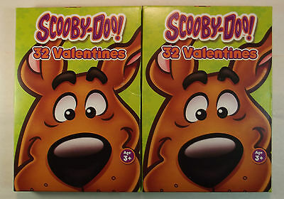 Scooby Doo Valentines Day Cards 2 Boxes 32 Cards Each Paper Magic Group