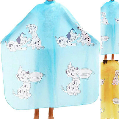 Kids Salon Hair Cut Hairdressing Barbers Cape Gown Clothes Protector Cute Dog