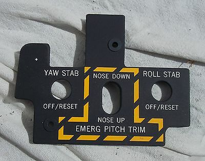 USN USMC F-8 Crusader Super Sonic Aircraft Carrier Fighter Yaw Stab Light Panel