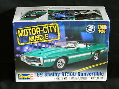 """Revell """"motor-City Muscle""""  '69 Ford Shelby Gt500 Convertible Model Kit"""