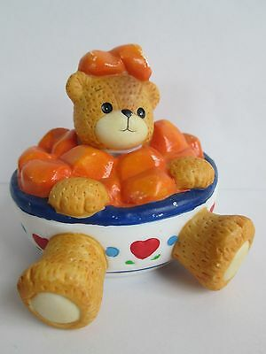 Lucy & Me Bear Enesco Bowl of Cereal   Lucy Rigg 1994  GC
