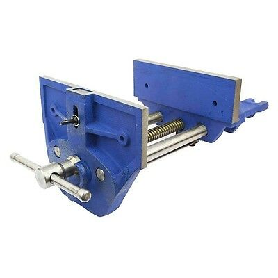 """9"""" Cast Iron Woodworker's Bench Vise Quick Release Vice for Woodworking Wood"""