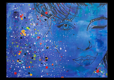 Large Face Modern Gallery Pop Art Original Abstract Painting
