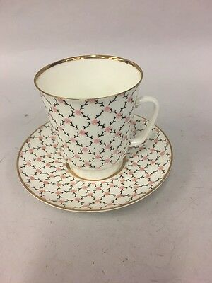 Vintage  USSR  China Tea Cup and Saucer Russian Porcelain  small