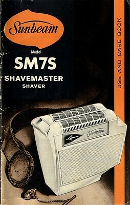 1968 Vintage owner's manual: Sunbeam SM7S Shavemaster Shaver - Canada 143-2136