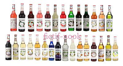 Monin High Quality Syrup 700ml Sakura, Cherry, Rose, Chocolate and Many More!