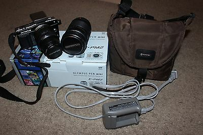 Olympus E-PM2 16.1mp Camera- W/ 14-42mm kit lens, 40-150mm lens, and accessories