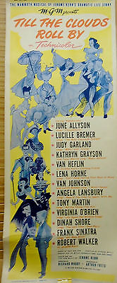 """ TILL THE CLOUDS ROLL BY""Original Authentic Theatre Lobby Poster 1962 MGM #62"