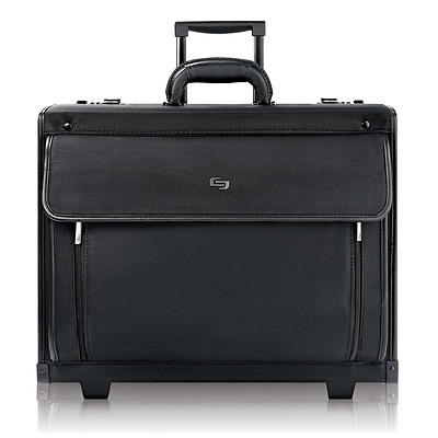 "Solo Classic 15.6"" Laptop Rolling Catalog Case with dual combination locks, Blac"