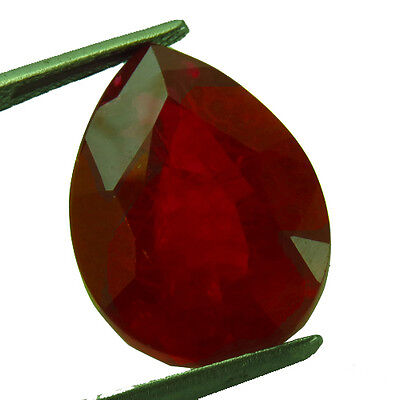 14.60 ct Lab Created Pigeon Blood Red Ruby Chathum Pear Loose Gem
