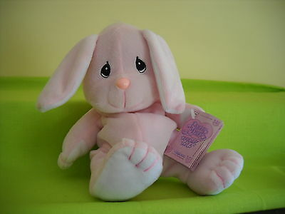 "Precious Moments-Tender Tails 6"" Pink Bunny Rabbit W/tag-464414"
