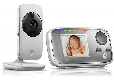"Motorola 2.4"" Video Baby Monitor Night Vision and Room Temperature Display MBP48"
