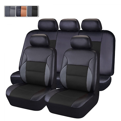 CAR PASS - 11PCS Luxurous PU Leather Automotive Universal Seat Covers Set Packag