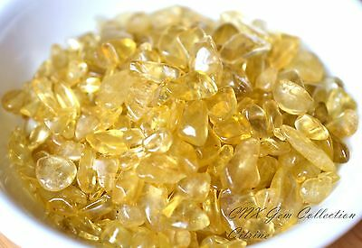 Tumbled Gemstone Crystal Citrine 5g ChipStone Birthstone Gemini Virgo Sml Tiny
