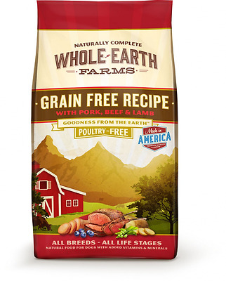 Merrick 85540 Whole Earth Farms Beef and Lamb, Large, Red