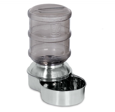 Petmate 24345 Stainless Steel Replendish Pet Waterer, Small
