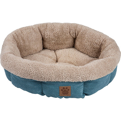 Precision Pet 7075994 Snoozzy Mod Chic Round Shearling Bed, Teal