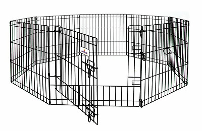 Petmate 55012 30-Inch by 24-Inch 8-Panel Exercise Pen with Step Through Door