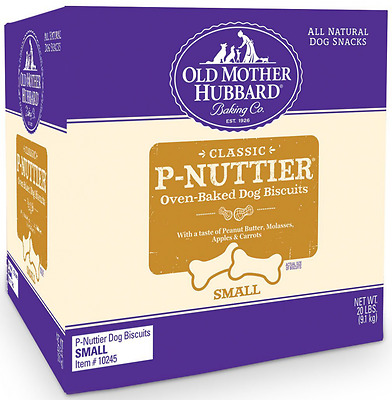 Old Mother Hubbard Classic Crunchy Natural Dog Treats, P-Nuttier Small Biscuits,