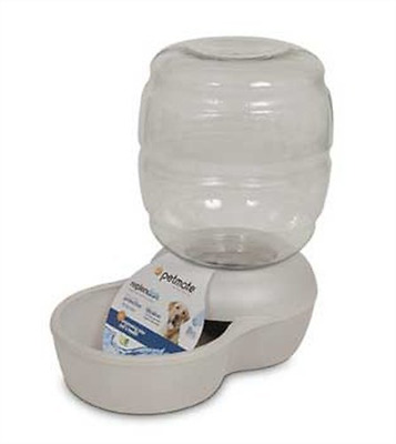 Petmate 24538 Replenish Pet Waterer with Microban, 4-Gallon (Pearl White)